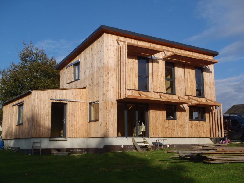 Maison ossature bois et paille
